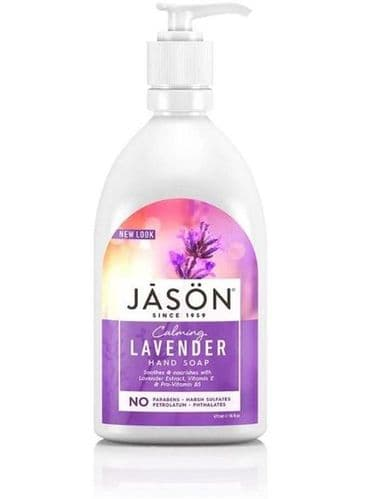 Jasons Natural Organic Lavender Liquid Soap with Pump